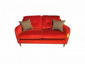 Macaroon Small Sofa in Sunny Berry with Simine Crimson