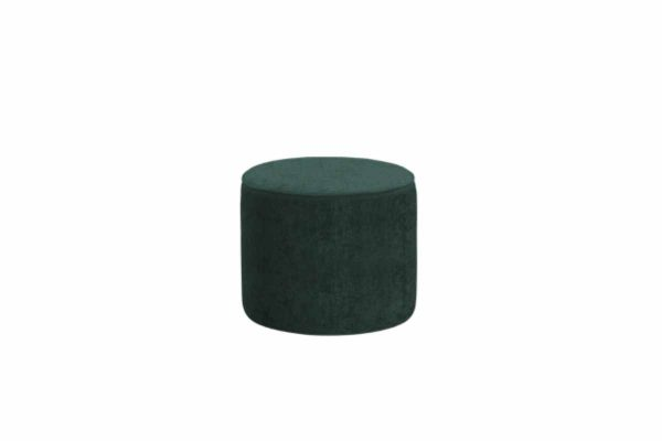 Gateaux Medium Round Stool in Malta Jasper Velvet