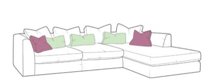 Gateaux Large chaise sofa RHF