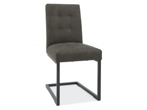 Tarragon Chair - Cantilever Chairs - Dark Grey Fabric