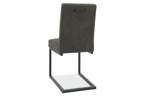 Tarragon Chair - Cantilever Chairs - Dark Grey Fabric - Back