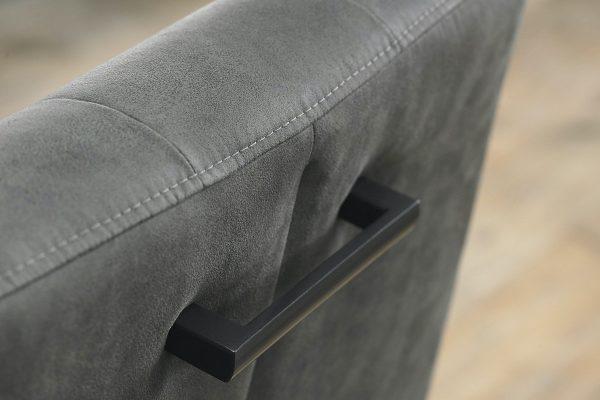 Tarragon Chair - Cantilever Chairs - Dark Grey Fabric - Closeup