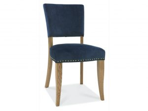 Tarragon Chair - Upholstered Chairs - Dark Blue Velvet