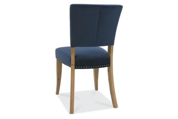 Tarragon Chair - Upholstered Chairs - Dark Blue Velvet - Back