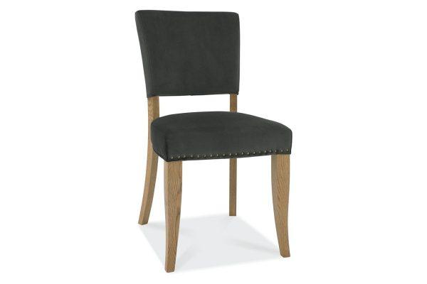 Tarragon Chair - Upholstered Chairs - Gun Metal Velvet