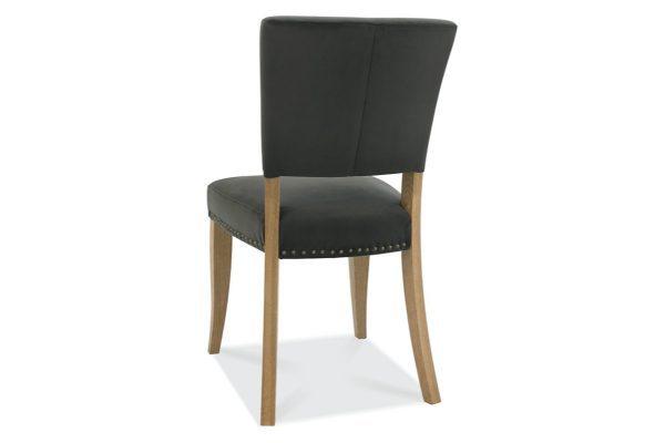 Tarragon Chair - Upholstered Chairs - Gun Metal Velvet - Back
