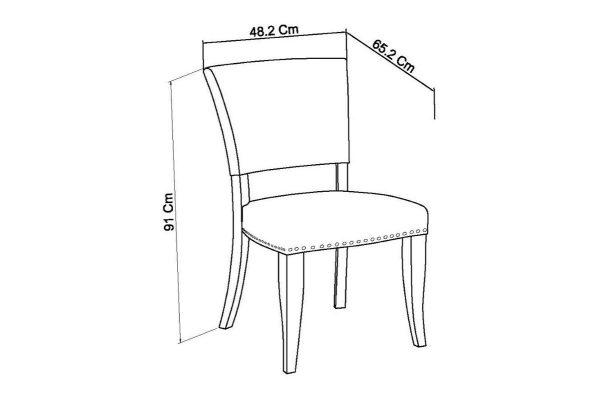 Tarragon Chair - Upholstered Chairs - Sea Green Velvet - Dimensions