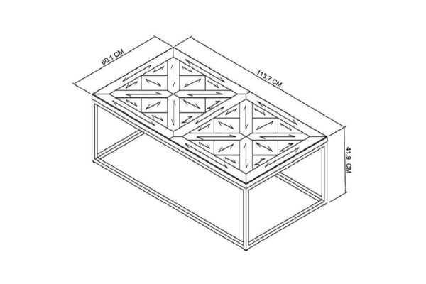 Tarragon Coffee Table - Dimensions