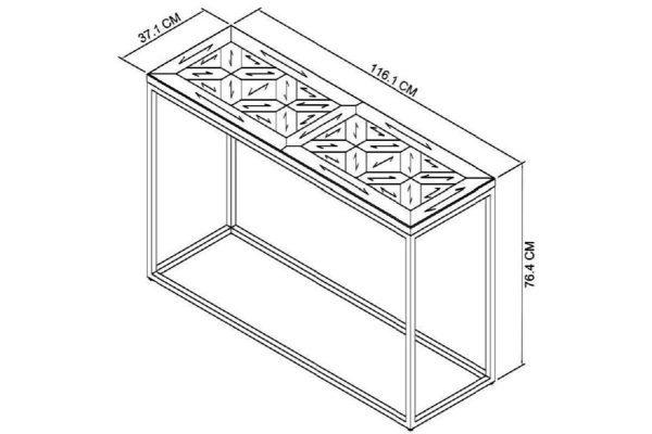 Tarragon Console Table - Dimensions