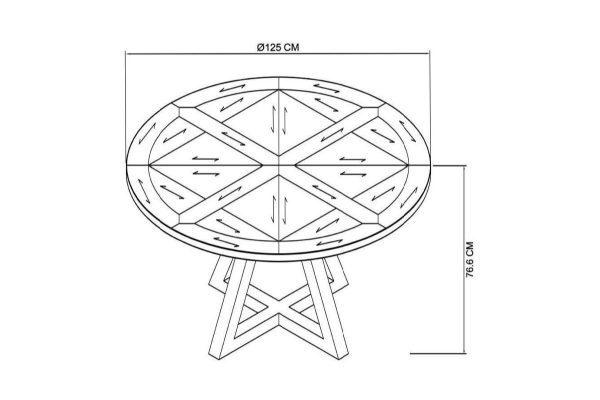 Tarragon Dining Table - Circular - Dimensions