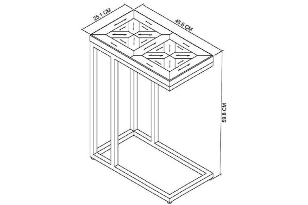 Tarragon Sofa Table - Dimensions