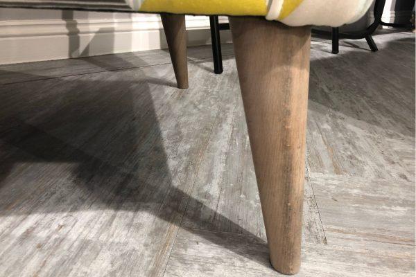 Banoffee Designer Chair Weathered Oak feet