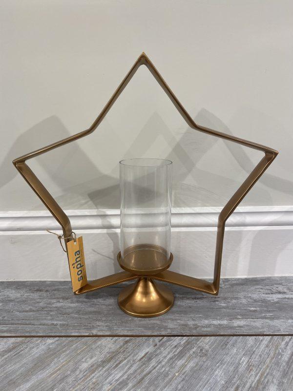 Gaston Large Copper Star Lantern