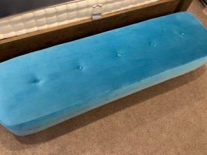 Ringo Modern Bench Stool in Lumina Turquoise