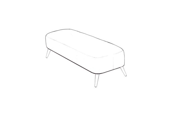 Tiramisu Large Bench Stool