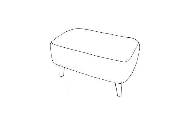 Tiramisu small bench stool