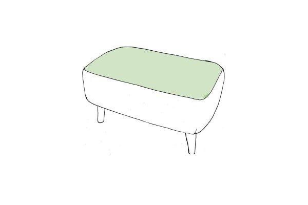 Tiramisu Small Designer Bench Stool