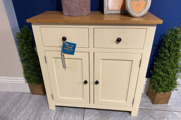 Occasional Cream Small 2 Drawer 2 Door Sideboard