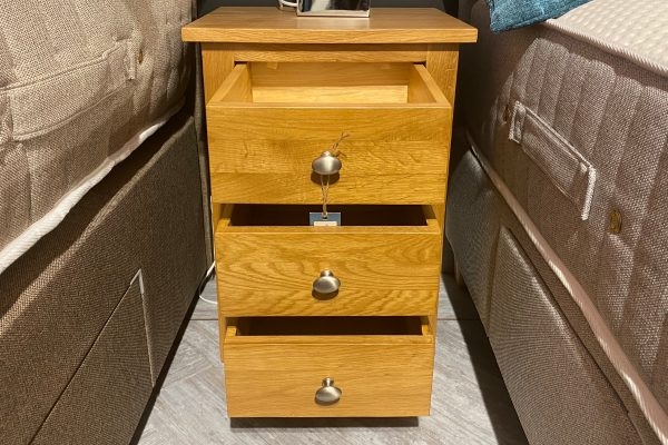 Occasional Oak 3 Drawer Bedside Cabinet
