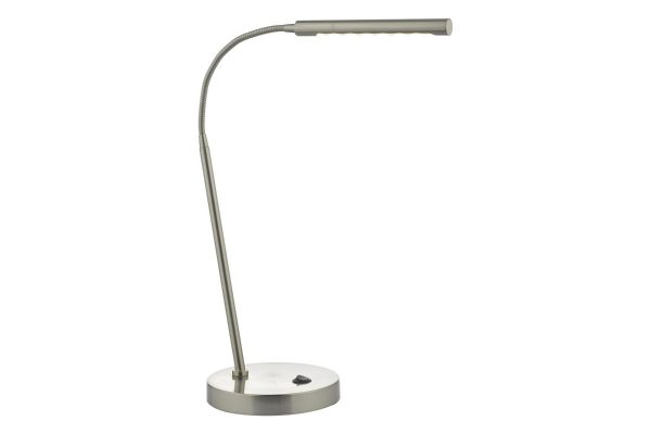 Akiko Satin Chrome LED Task Lamp