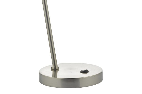 Akiko Satin Chrome LED Task Lamp Base