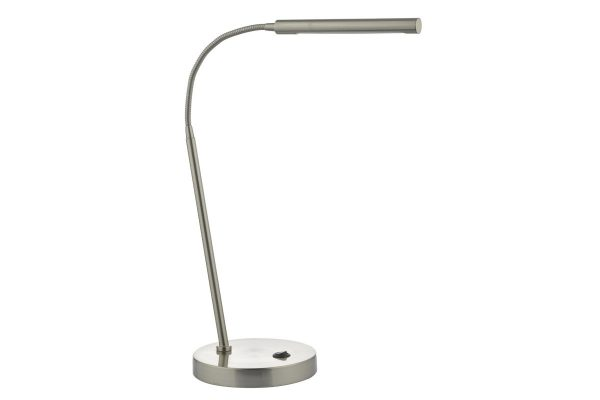 Akiko Satin Chrome LED Task Lamp Off