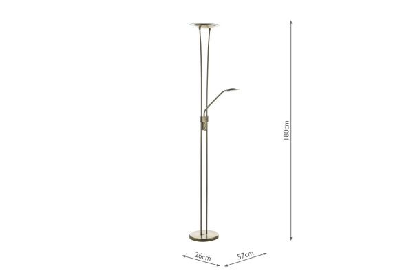 Akiro Antique Brass LED Floor Lamp Measurements
