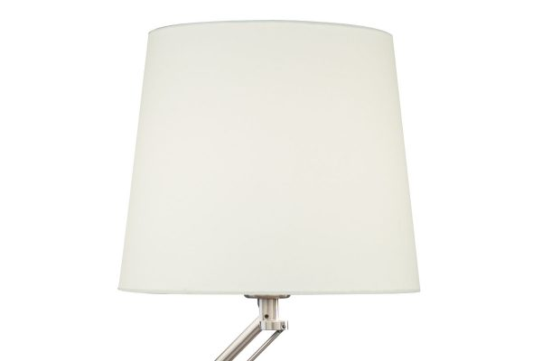 Albus Satin Chrome Table Lamp Shade