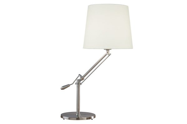 Albus Satin Chrome Table Lamp with Shade