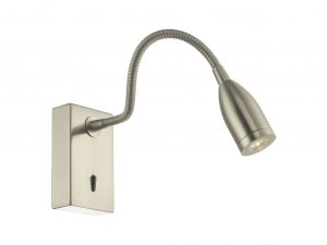 Ambert Satin Nickel Wall Light
