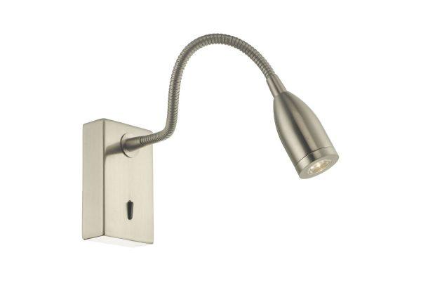 Ambert Satin Nickel Wall Light