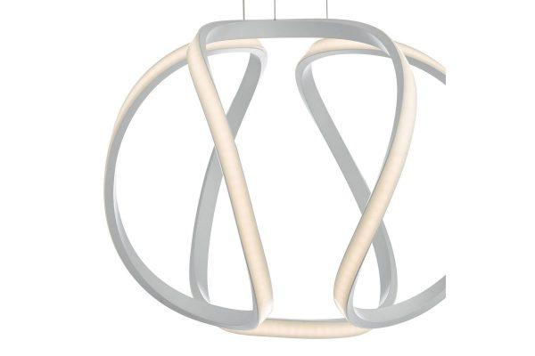 Apollo Small White LED Pendant Lamp Detail 2