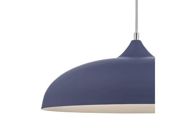 Avira Blue & White 1 Light Pendant Shade Detail