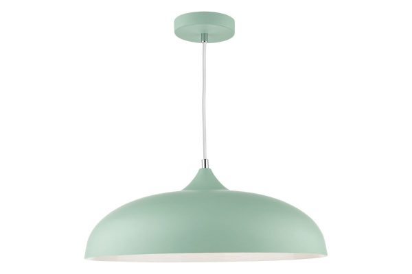 Avira Matt Pale Green 1 Light Pendant