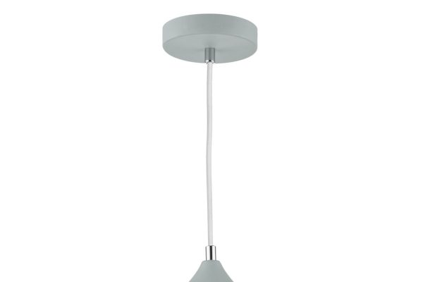 Avira Soft Matt Grey 1 Light Pendant Pendant Detail