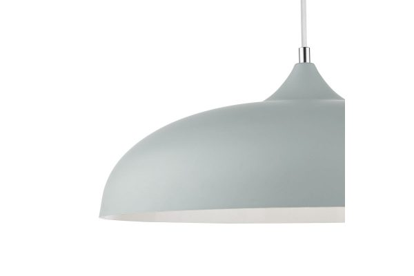Avira Soft Matt Grey 1 Light Pendant Shade Detail