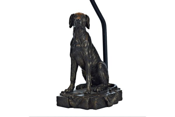 Barack Dog Bronze Table Lamp