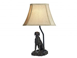Barack Dog Bronze Table Lamp with Shade