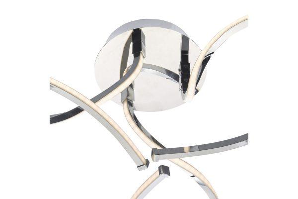 Callahan Polished Chrome LED 3 light Semi Flush Fitting Fixing Plate Detail