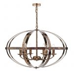 Ciana Petrol Copper 6 Light Pendant