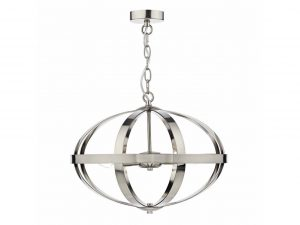 Ciana Satin Chrome 3 Light Pendant