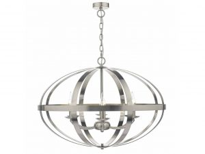 Ciana Satin Chrome 6 Light Pendant