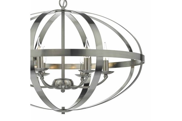 Ciana Satin Chrome 6 Light Pendant Detail 2