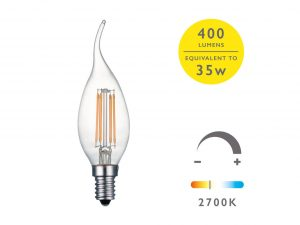 E14 Warm White 400LM CDV Candle - Details