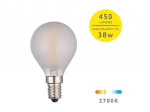 E14 Warm White 400LM Pearl Golfball - Details
