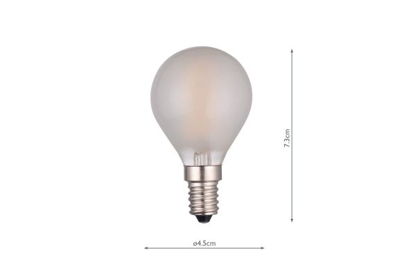E14 Warm White 400LM Pearl Golfball - Dimensions