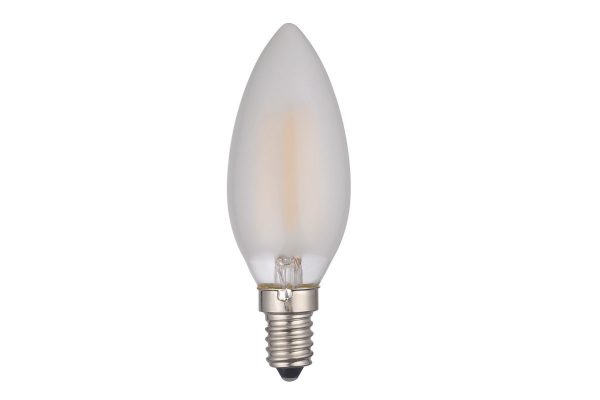 E14 Warm White 450LM Frosted Candle