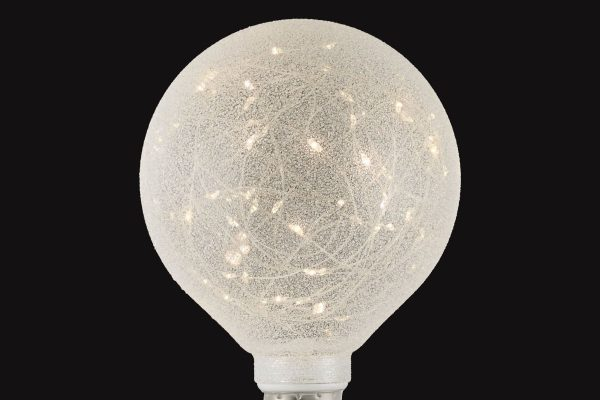 E27 60LM Starry White Globe - dark