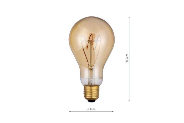 E27 Vintage 160LM Large GLS - Dimensions