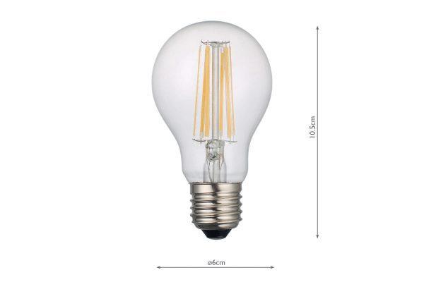 E27 Warm White 1000LM GLS - Dimensions